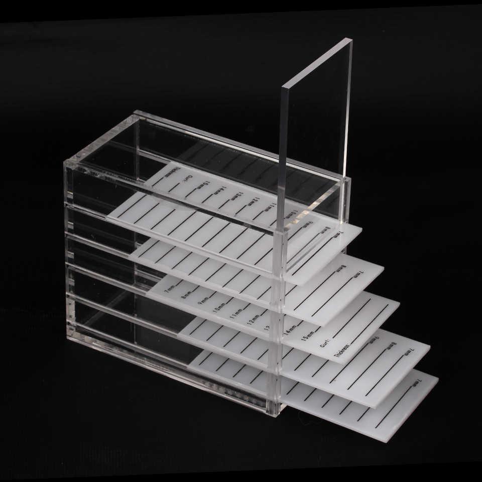 5 طبقات واضح رمش صندوق تخزين الاكريليك الفردية لاش لوحة البليت أصحاب الرموش تمديد عرض الحاويات أدوات
