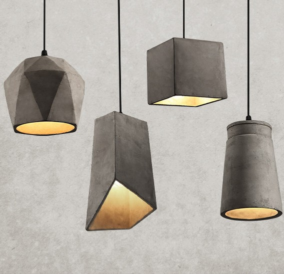 Industrial Loft Style Vintage Cement Droplight Edison Pendant Light Fixtures  For Coffee Bar Kitchen Hanging Lamp