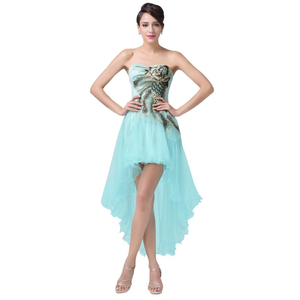 Grace Karin Prom Dresses 2017 Peacock Dress Short Front Long Back ...
