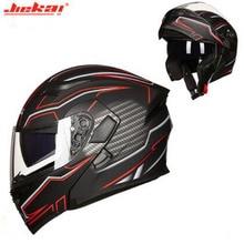 JIEKAI JK902 خوذة دراجة نارية قابلة للطي للرجال ، حماية رأس دراجة نارية ، عدسة مزدوجة ، موتوكروس ، مصنوعة من ABS/PC