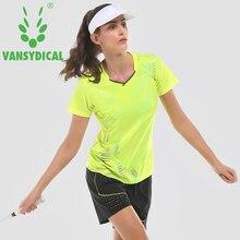 Vansydical Women Running Sets Workout Suits Badminton Tennis Training Tracksuit Suits 2pcs T-Shirt Gym Shorts Sports Sets