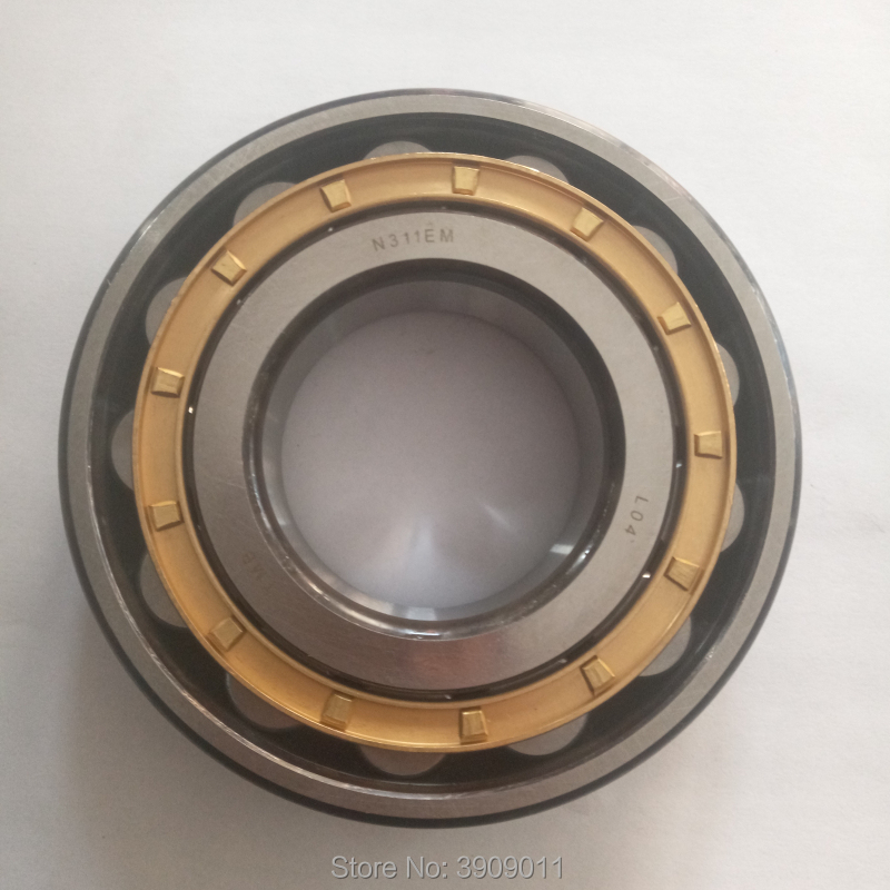 SHLNZB Bearing 1Pcs N221 N221E N221M N221EM N221ECM C3 105*190*36mm Brass Cage Cylindrical Roller Bearings shlnzb bearing 1pcs nu2328 nu2328e nu2328m nu2328em nu2328ecm 140 300 102mm brass cage cylindrical roller bearings