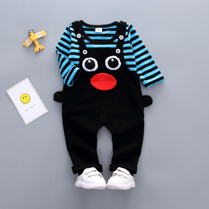 BibiCola 2018 Spring Baby Boy Clothes Sets bear Cartoon hoodies + casual pants 2pcs sets kids Sport suit toddler clothing