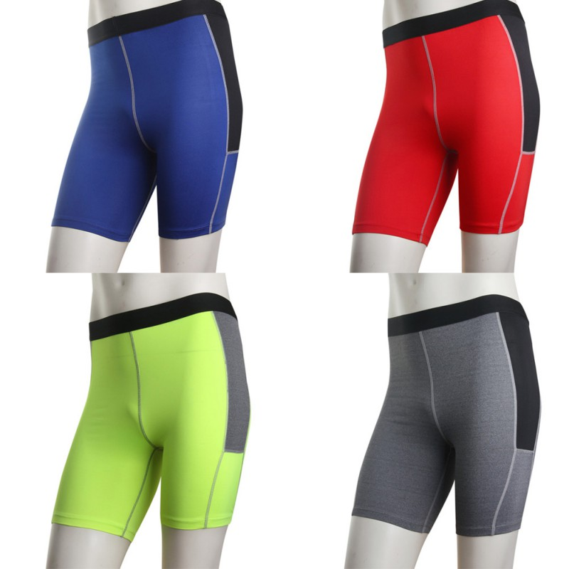 Men Sports Short Pants Compression Tights Running Shorts Gym Sports Base Layer Shorts S-XXL LKT