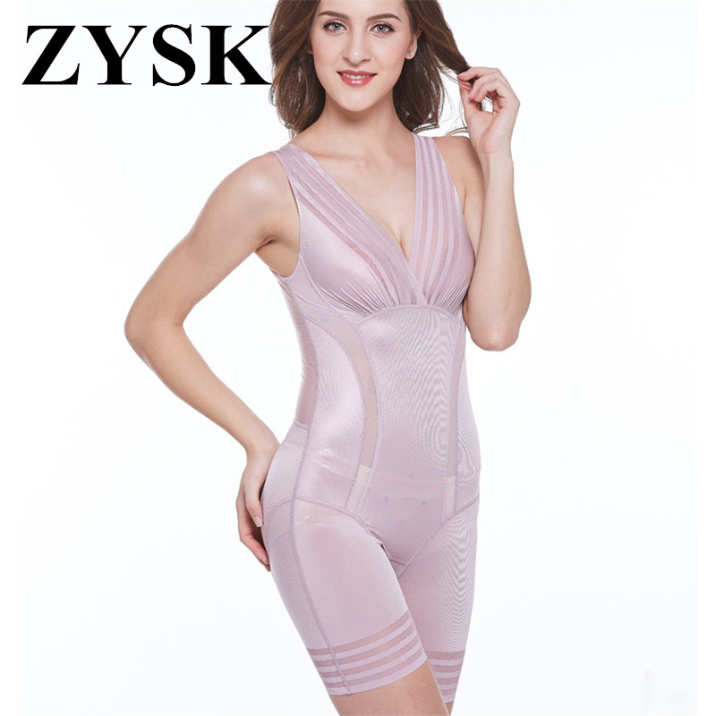 a4252422bff1f New 2019 Ladies Slimming Bodysuits Shapewear for Women Ultra Thin High  Waist Shaping Panty Deep V Neck Sexy Striped Body Shaper-in Bodysuits from  Underwear ...