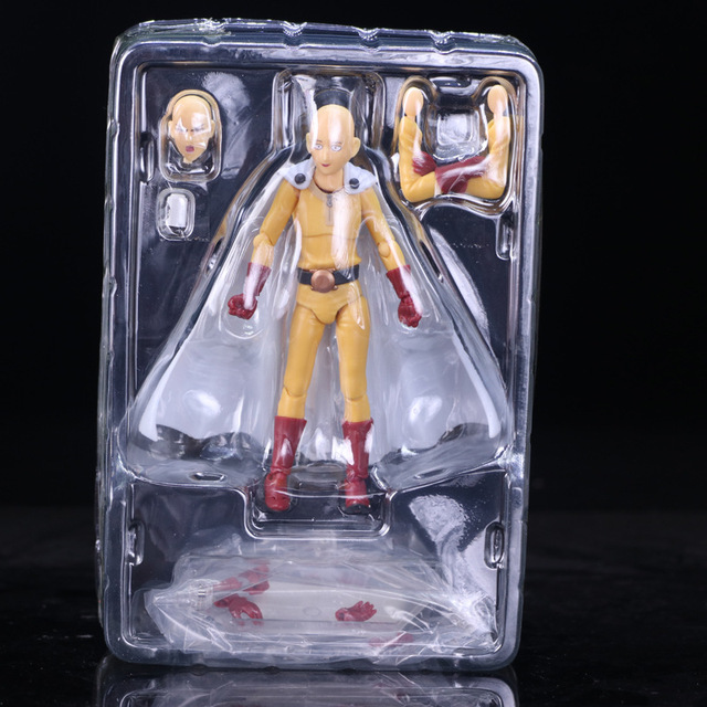 Anime Saitama One Punch Man Figma 310 PVC Action Figure Collectible Model Toys 3