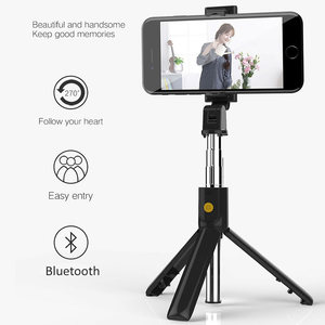 Image 2 - 3 in 1 Wireless Bluetooth Selfie Stick for iphone/Android/Huawei Foldable Handheld Monopod Shutter Remote Extendable Mini Tripod