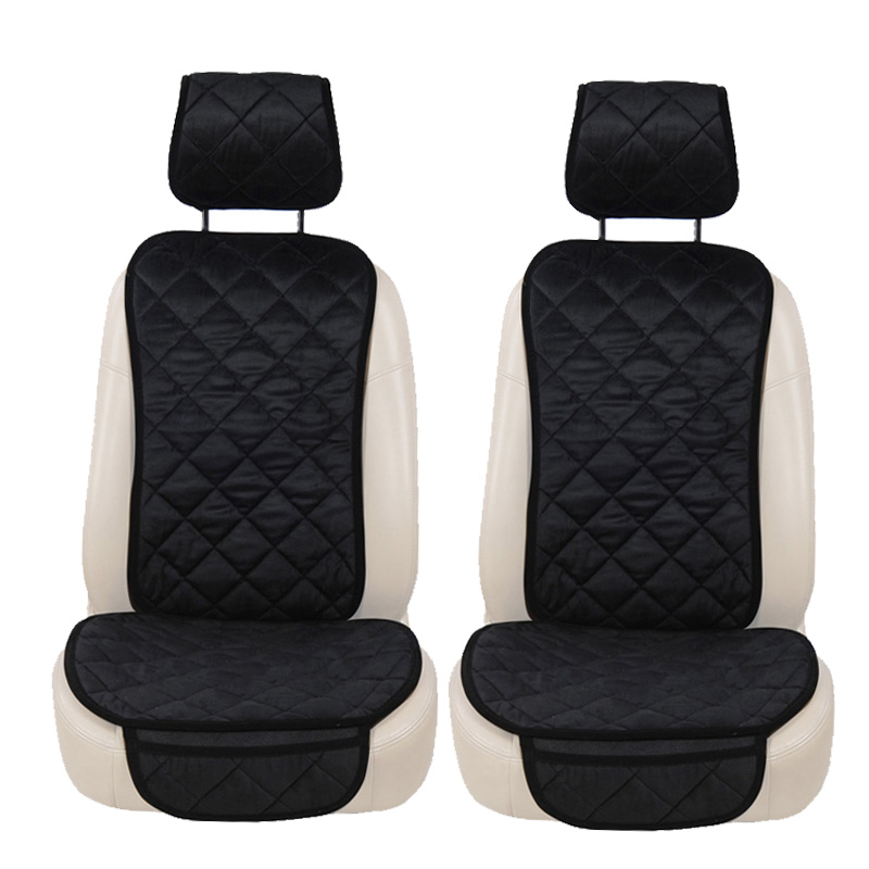2PCS Velvet Seat Car Chair Cover Auto Seat Covers Car Seat Cushion Seat Cover Car Protector For tesla model 3 fiat 500 car seat cushion car seat cover universal car chair cover auto seat covers car seat protector for honda accord 2014 mazda cx 5