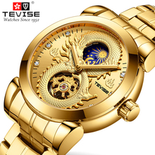 TEVISE Men's Watches Dragon Skeleton Automatic Watch Men