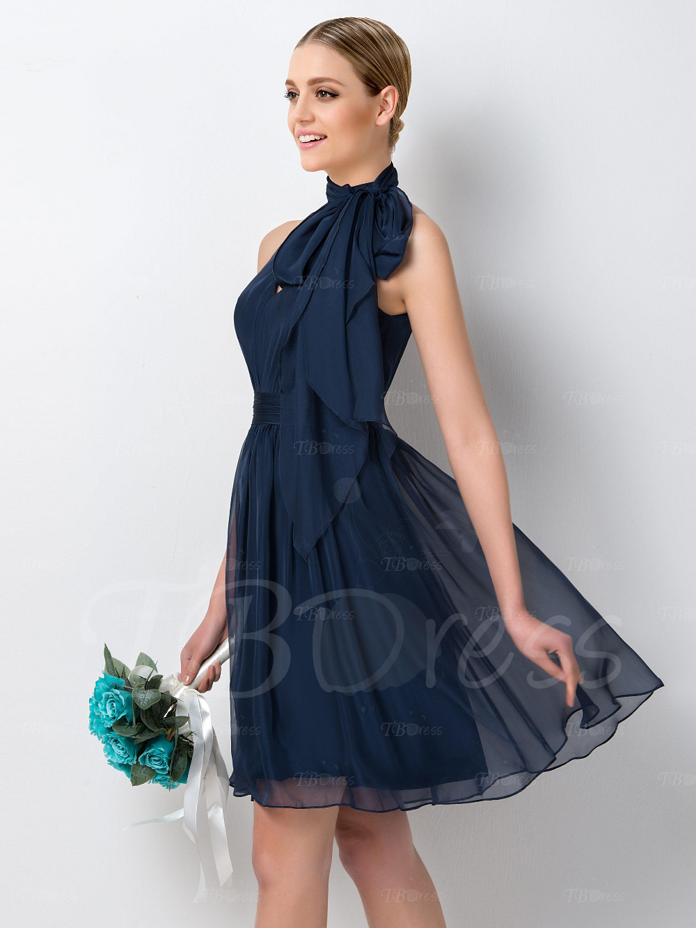 2016 new arrival halter neck chiffon bridesmaid dresses black robe 2016 new arrival halter neck chiffon bridesmaid dresses black robe demoiselle dhonneur knee length ruched short formal dress in bridesmaid dresses from ombrellifo Images