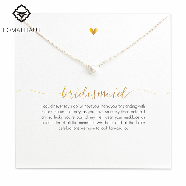 FOMALHAUT bridesmaid small imitation pearl Pendant Necklaces Clavicle Chains nec