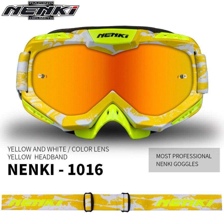 Livraison gratuite 1 pièces NENKI Motocross tout-terrain lunettes équitation Biker lunettes de soleil Choppers lunettes lentille sécurité moto lunettes