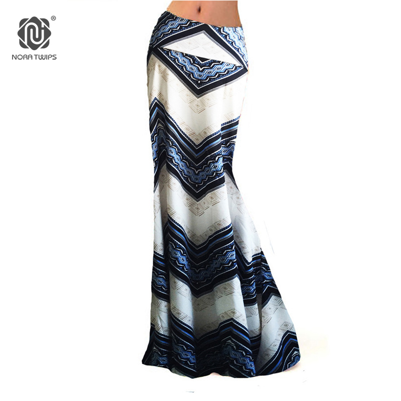 US $9.29 7% OFF|Women Striped Long Skirt Plus Size 3XL Vintage Elegant  Bodycon Long Skirts Hippie Print Pencil Skirt Women Blue Red Orange Y1-in  ...