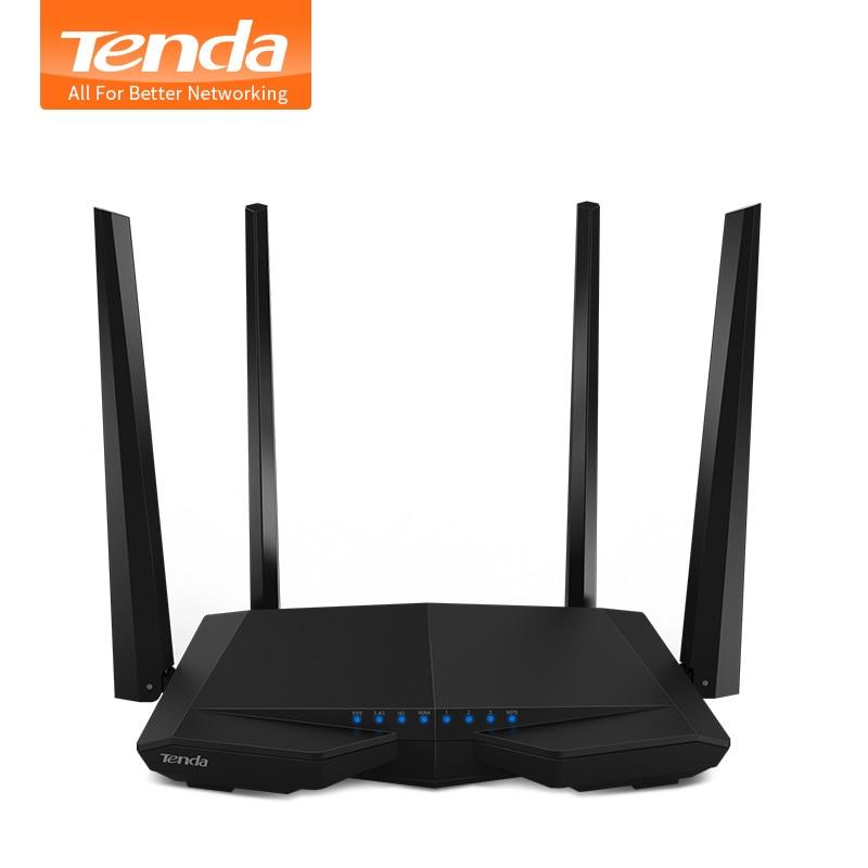 Prix pour Tenda ac6 1200 mbps smart double-bande 802.11ac 2.4g/5.0 ghz gigabit sans fil wifi routeur wi-fi répéteur, app gérer, anglais firmware