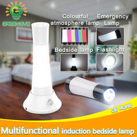 LED Night Light IR Infrared Motion Sensor Light Multi Function Led Flashlight RGB Led Atmosphere Portable