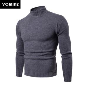 Image 1 - Vomint 2019 tout nouveau Pullovers pour hommes chandails à col roulé chandails basique décontracté Must Have icônes manches longues col haut chandail