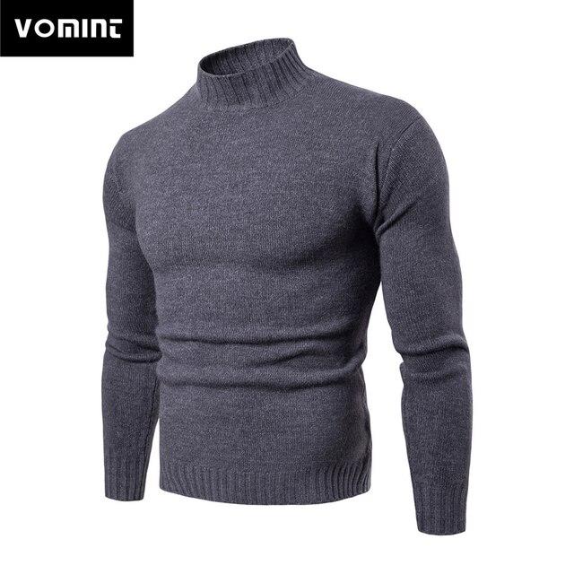 Vomint 2019 tout nouveau Pullovers pour hommes chandails à col roulé chandails basique décontracté Must Have icônes manches longues col haut chandail