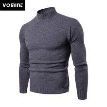 Vomint 2019, брендовые новые мужские пуловеры, свитера с высоким воротом, базовые Повседневные свитера с длинными рукавами, свитера с высоким воротником