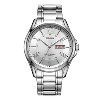 Casio Quartz WristwatchMTP 1384D 7A Fashion Casual Business Waterproof 30 Meters Auto Date Luminous Pointer Stainless