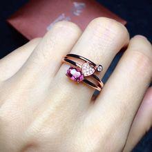 Турмалиновое кольцо натуральное турмалиновое кольцо из серебра 925 пробы