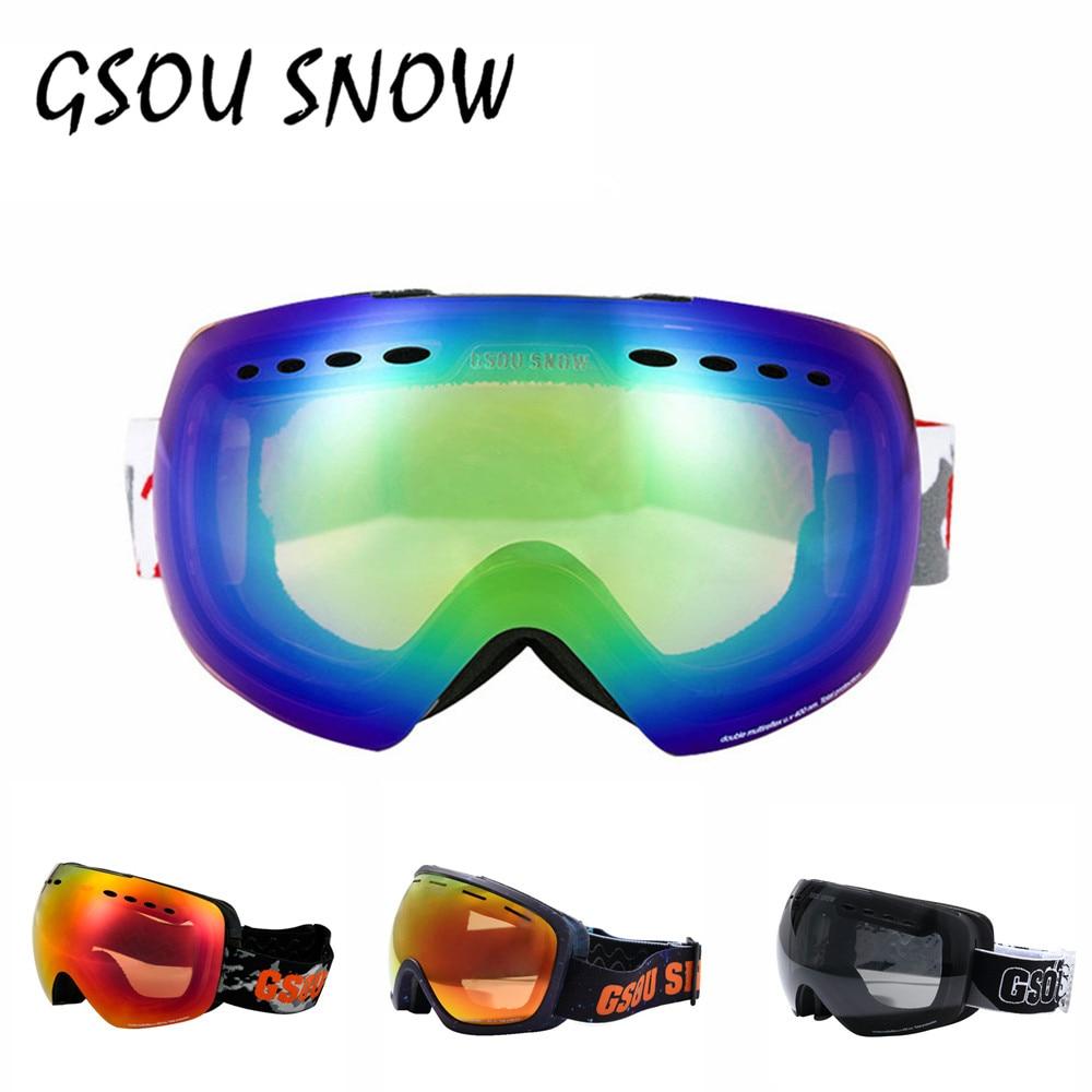 Gsou Nieve juego de Esquí Googles Para Mujeres de Los Hombres de Invierno Al Air