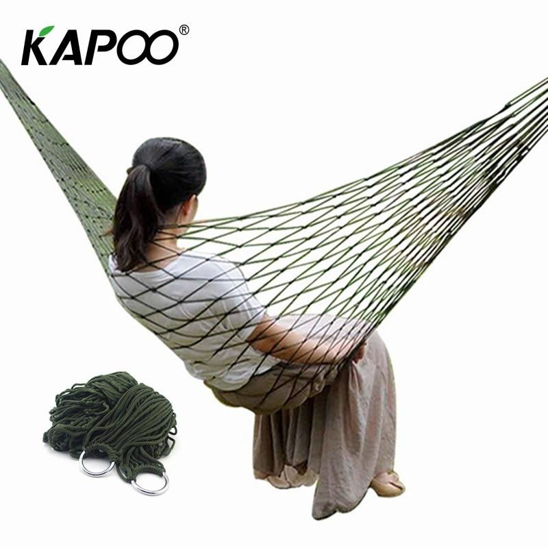 KAPOO Ultralight Outdoor Hammock Hanging Sleeping Bed Swing Portable Lightweight Durable Mesh Hammock For Hiking , Camping hammak swing hammock hanging camping swing hammock portable
