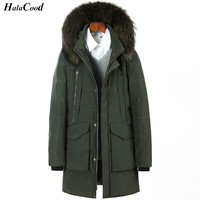 Quality Brand Clothing Jackets Thick Keep Warm Men Is Down Jacket High Quality Fur Collar Hooded
