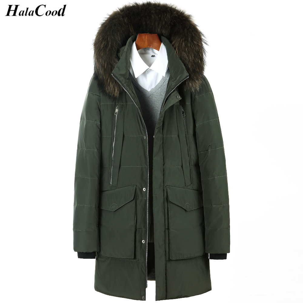 Quality brand clothing jackets thick keep warm men is   down   jacket high quality fur collar hooded   down   jacket winter   coat   Male