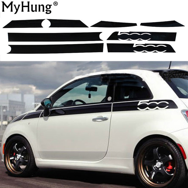 For fiat 500 creative car whole body sticker decoration car protection stickers car styling auto