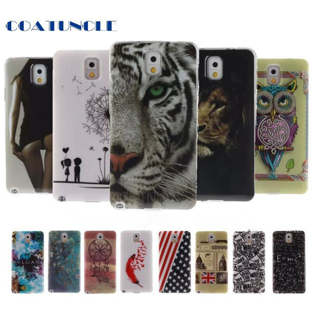 SM-N900 SM-N9005 TPU IMD Silicon Gel Case For Samsung Galaxy Note 3 III NOTE3 Coque TPU Back Case Cover For GALAXY NOTE 3 Case