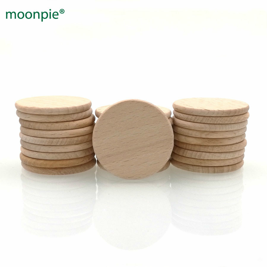 """Baby Animal Shape Natural Unfinished Beech Wood Teething Ring 2.4/"""" 60mm"""