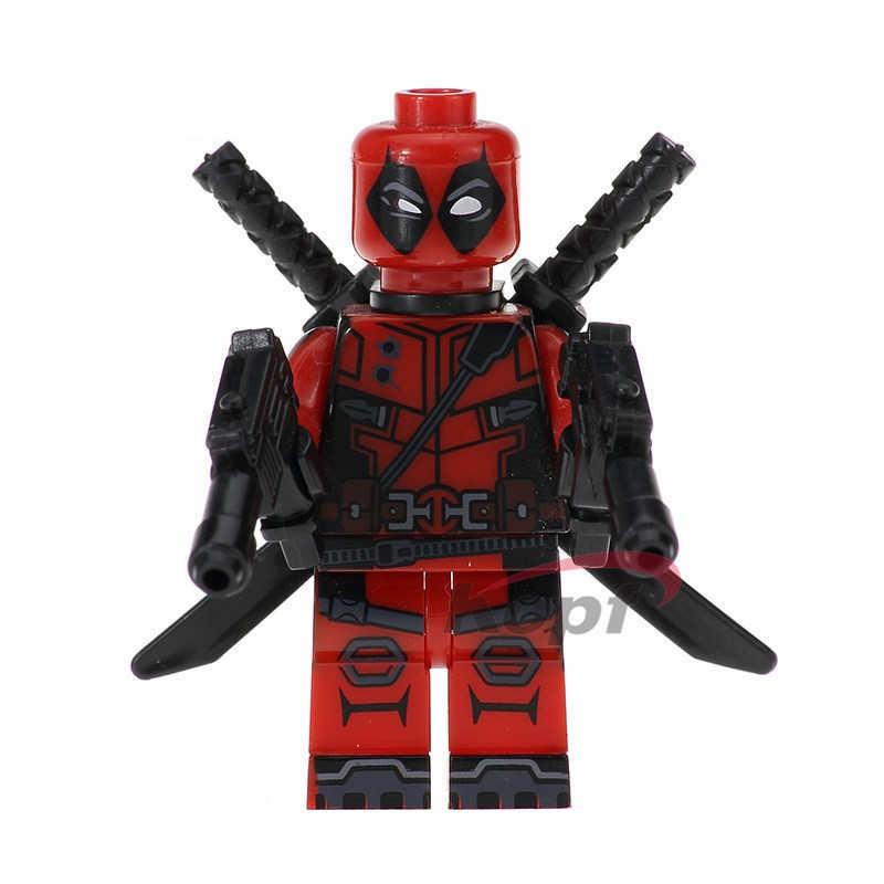 ABS строительные блоки Мстители с крыльями бетмен И Дедпул Robocop Fawkes Каратель совместимый legoing детская собранная игрушка подарок