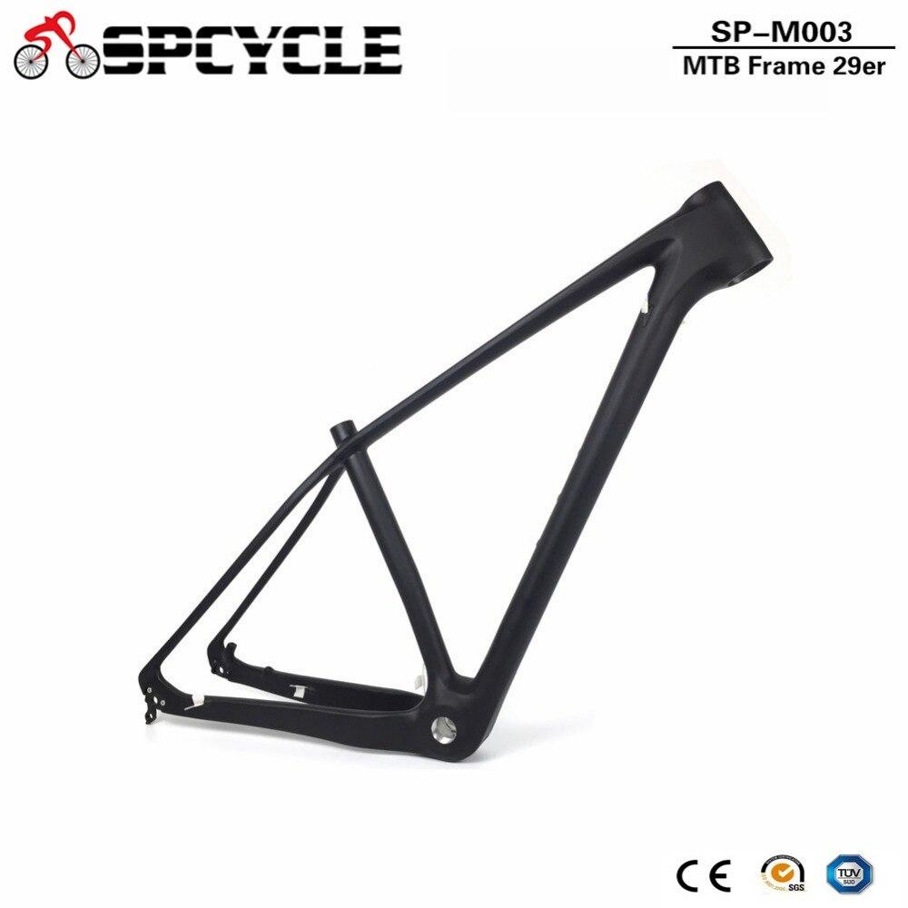 Spcycle Full Carbon Mountain Bike Frame 29er T1000 Carbon MTB Bicycle Frame BSA 73mm 142*12mm or 135*9mm MTB Bicycle Frame carbon frame mountain bike frame 26inch bike frame bicycle frame