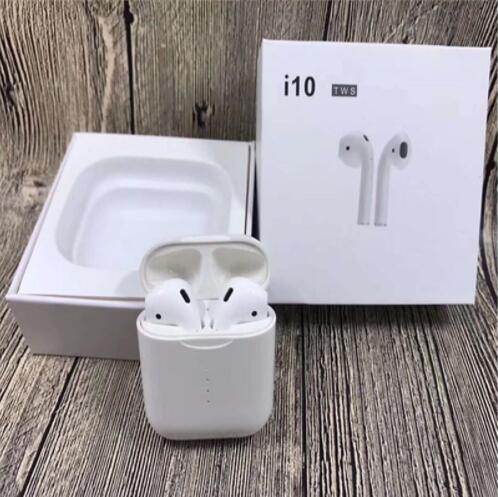 Nouveau i10 TWS Double Mini écouteurs Bluetooth sans fil avec boîtier de charge micro pour Iphone7, 8, X Samsung Android Xiaomi