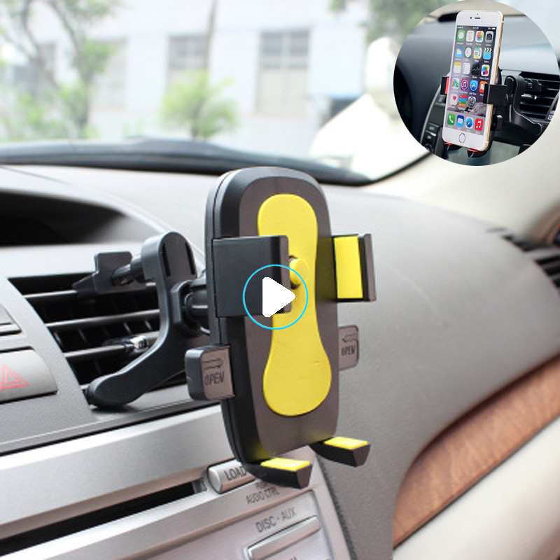 Universal 6.0 Inch Car Phone Holder Air Vent Car Mount Stand Holder For IPhone 6 7 8 X Xs Max Samsung S10 S9 S8 S7 Plus LG Sony