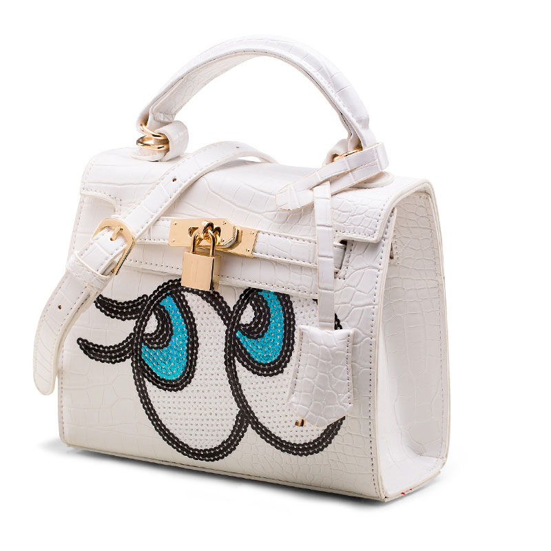 Shoulder Bags Eye bag ladies handbags Crocodile women bag with lock messenger bags sequins bolsa SpongeBob kil famous brandsShoulder Bags Eye bag ladies handbags Crocodile women bag with lock messenger bags sequins bolsa SpongeBob kil famous brands