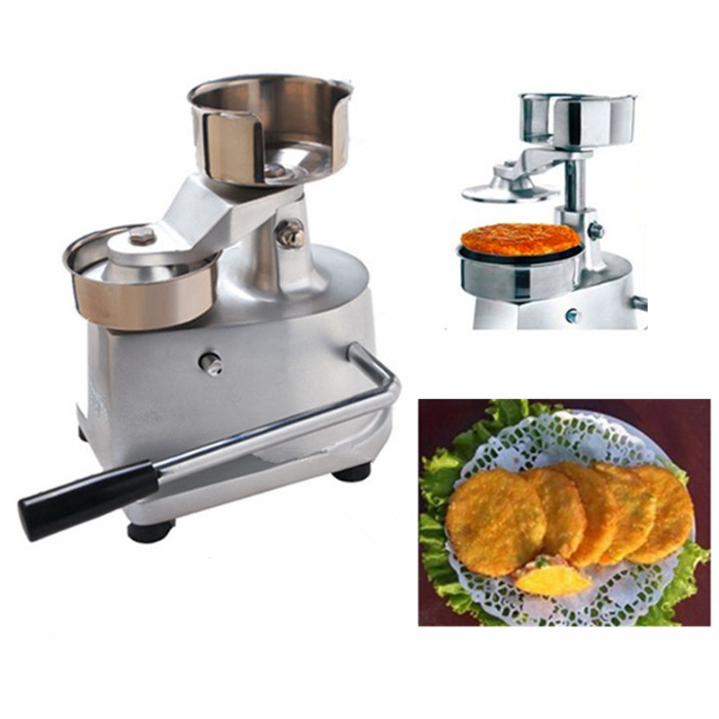 High quality stainless steel 130mm hamburger press burger forming machine manual hamburger patty maker meat pie maker hand press hamburger patty making forming machine