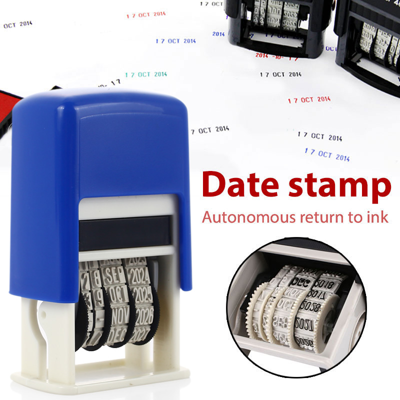 Stamping Mud Set Date Stamps 2016-2027 DIY Handle Account Office Supplies Seal Retro Student Home Convenient Dater Art Wheel