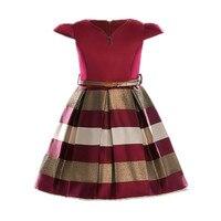Girl Dress Bow Stripes Princess Dresses Of Girls Baby Clothing Summer Dresses Girl Party Dress 2018