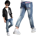 Trousers for Boys Denim Pants Teenager Solid Trousers for Kids Jeans Clothing Autumn Brand Clothes Spring 4 10 15 Children Pants