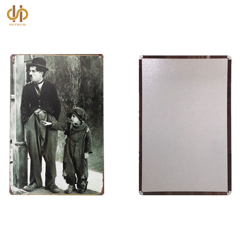 Charlie Chaplin Tin Sign Poster Plaque Living Room Wall Art Decorl Plaque ...