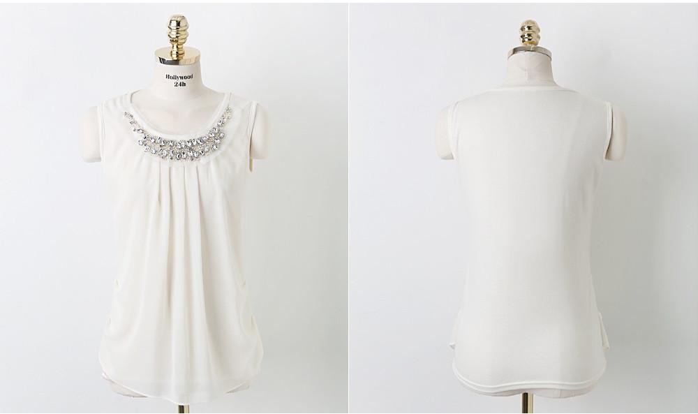 Plus Size White Chiffon Top For Ladies