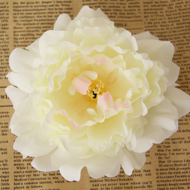 30pcs bag Europe artificial flowers peony flower heads romantic silk flower DIY flower wall fashion wedding car decoration in Artificial Dried Flowers from Home Garden