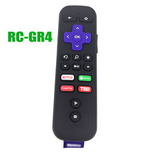 New Original For Roku RF RC-GR4 Game/Voice/Headphone Streaming Box Ultra Remote Control With headphone jack Fernbedienung(China)