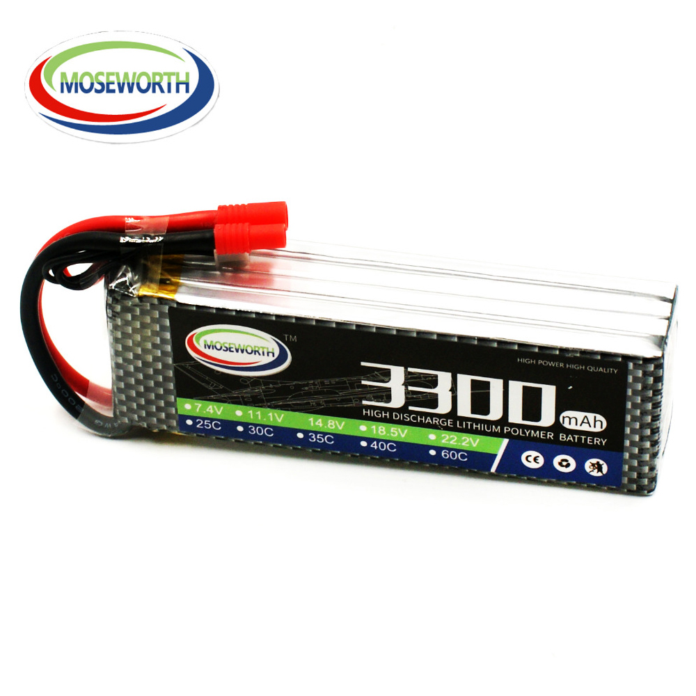RC Battery LiPo <font><b>4S</b></font> 14.8V <font><b>3300mAh</b></font> 40C LiPo Battery For RC Helicopter Drone Quadcopter Airplane Car Boat RC Model Toys Batteries image