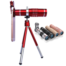 Cheaper Phone Camera Lenses Professional 18x Zoom Optical Telescope Telephoto Lens Kit With Universal Tripod For iPhone 7 8 Smartphones