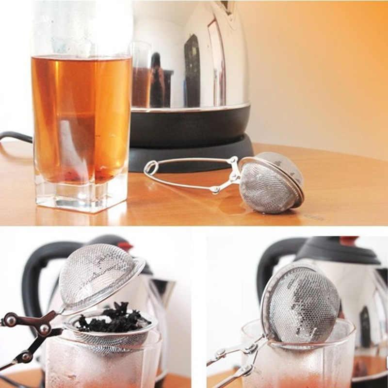 茶注入器ステンレス鋼球メッシュコーヒーハーブスパイスフィルターディフューザーハンドル茶ボール