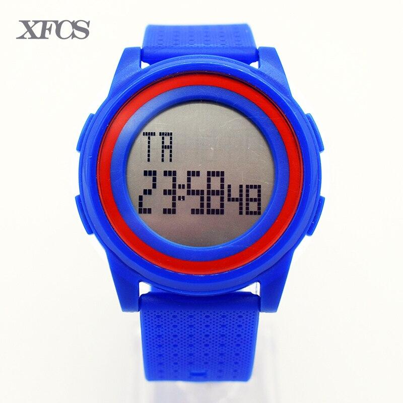 <font><b>XFCS</b></font> lady waterproof wrist digital automatic watches for women digitais watch running ladies clock digitales <font><b>LED</b></font> display casual