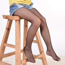 New Girls Fishnet Stockings Tights For Jeans Solid Fashion Casual Children Girls Kids Teenagers Pantyhose 2 Designs Over 6 Years eaboutique 2018 new street fashion rock star kids summer big holes jeans for girls jeans 2 6 years old