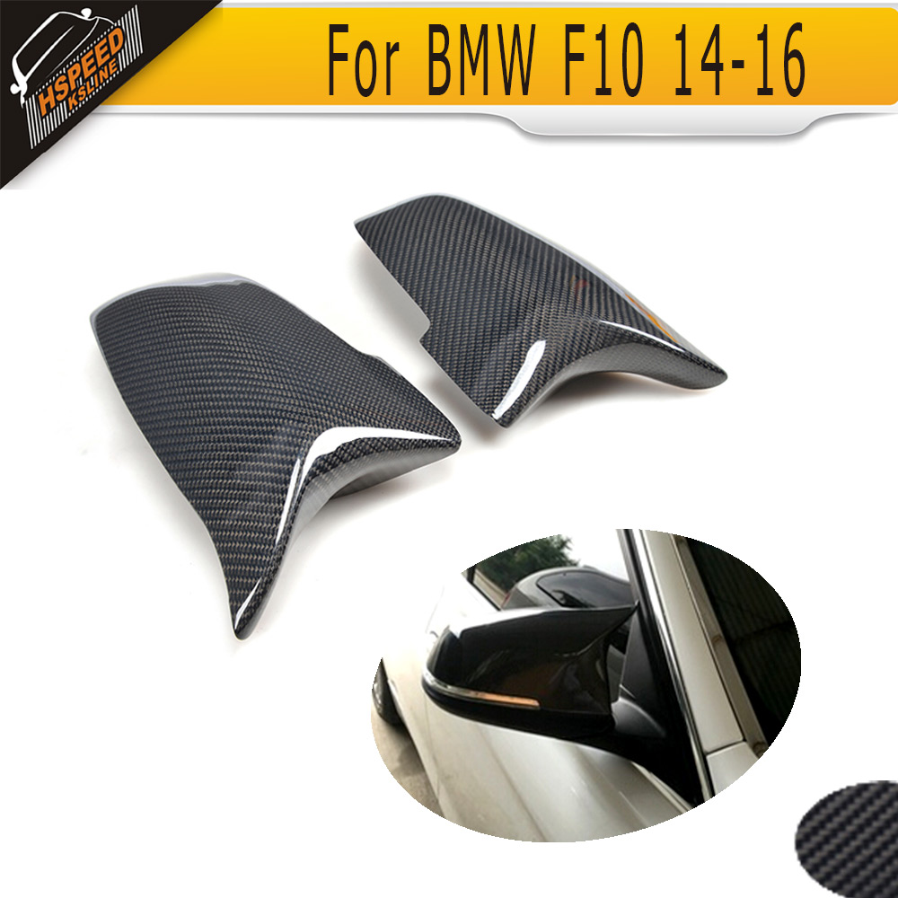 carbon fiber side rear back view mirror covers Caps for BMW 5 6 7 Series F10 14-16 G30 2017 F12 F06 14-16 F01 F02 13-15